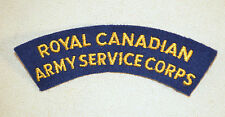 Royal Canadian Army Service Corps Shoulder Patch