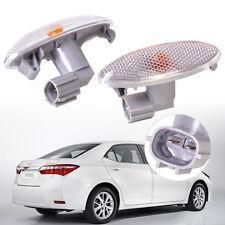 Pair Side Grey Turn Signal Lamp Fender Light fit Toyota Corolla Camry Yaris RAV4