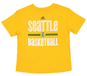 Adidas WNBA Youth Boys (8-20) Seattle Storm Practice Graphic Tee, Yellow