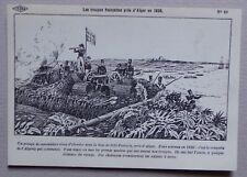 HF80) CP histoire de France Carlier : les troupes françaises près d'Alger 1830
