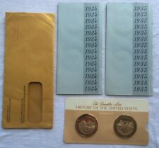 Franklin Mint 1934-1935 History of the United States Bronze Coins Never Open