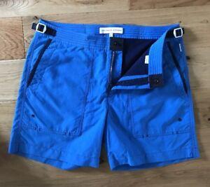 "Orlebar Brown Bulldog Swim Shorts 32""W Adventurer Heron Mid Length £195 New"