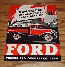 1933 Ford Truck & Commercial Car Foldout Sales Brochure 33 Pickup Panel Wagon