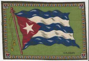 B4 Tobacco Flannel Insert, National Flags, 1910 (10.5X7.5 Inch), Cuba