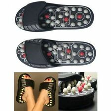 New size 7 Spring Action Acupressure Massage Slippers Leg Foot Massager Unisex