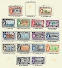 Bahamas, 1954 QEII  pictorials complete set LMM (B027)