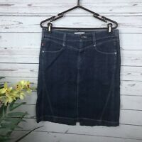 Levi's Jeans Denim Blue Jean Skirt Women's Size 10 Back Slit Red Tab