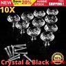 Crystal Clear Knob Diamond Glass Drawer Wardrobe Kitchen Cupboard Cabinet Handle