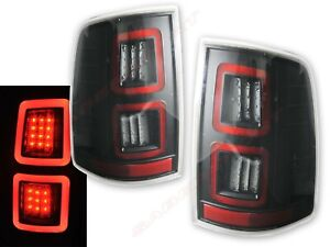 Set of Pair Black Full LED Taillights for 2009-2017 Ram 1500 / 10-17 2500 3500