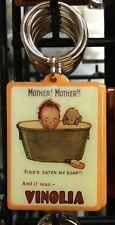 Vinolia Keyring Retro 60s Soap Kitchen Bathroom Cleaning kids bath Fido Dog bn