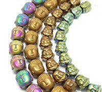 😏 Hämatit Buddha Köpfe Perlen verschiedene Größen & Farben (10 Stück)  😉