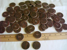 """(1) Pound X-LARGE BUTTONS~BROWN~Vtg~Quilting~Sewing~Pillows~Drapes ~Almost 1.5"""""""