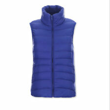 Down Solid Vests for Women