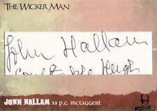 The Wicker Man Ultra Rare John Hallam Cut Auto Card WMJH Unstoppable Cards
