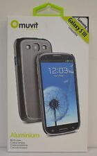 Muvit Aluminium Case for Samsung Galaxy S3  Grey Color in Retail Package