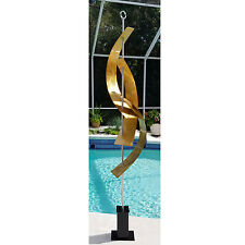 Huge Abstract Indoor-Outdoor Metal Sculpture Gold Maritime Massive - Jon Allen