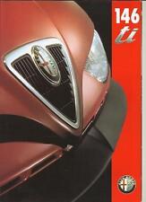 Alfa Romeo 146 ti 8 Page A4 Size English Language Brochure