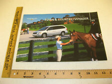 2003 03 Chrysler Town & Country Voyager Sales Brochure Literature 24 pgs BR108