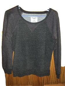 American Eagle Womens Gray Long Sleeve Sweatshirt Size S/P