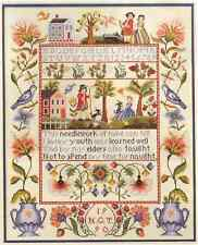 The Wisdom Sampler Vermillion Stitchery Hand Cross Stitch Pattern