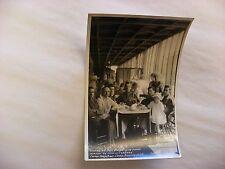 Real Photo Postcard RPPC WW1 US Army Camp Kearny San Diego CA Picnic Dinner #509