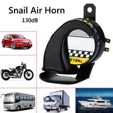 Universal Snail Air Horn Siren Loud 130dB Waterproof For 12V Truck Motorcycle
