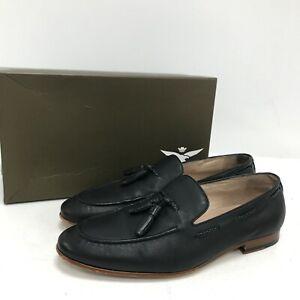 Aquila Shoes UK 9 EU 43 Loafer Style Slip On Tassel Black Formal Smart 251179