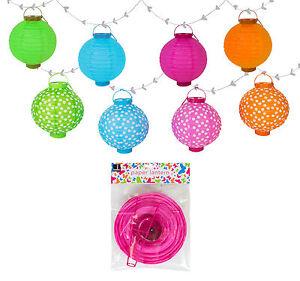 Decorative LED Paper Garden, Home Hanging Lantern - Green Polka Dot