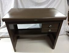 Mid Century Industrial Modern Cole Steel 2-Drawer brown Small Desk Child's nice