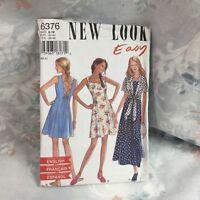 New Look 6376 summer maxi dress jacket vintage UNCUT sewing Pattern size 8-18