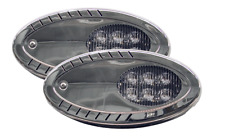 1 PAIR Marine Boat Trailer Docking LED Surface Mount Flood Spot Light High Lumen