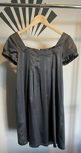 H&M Babydoll Dress Size 10 Silver Good Condition