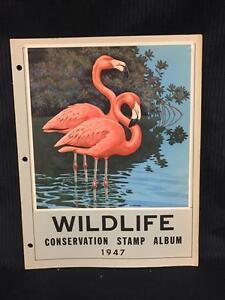 1947 Wildlife Conservation Stamp Album Complete Flamingos - Collectors