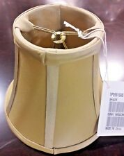 Ethan Allen Light Tan Color Silk Chandelier Clip-On Lamp Shade - BRAND NEW
