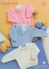 Stylecraft 4819 Knitting Pattern Babies Cardigan Sweater in Wondersoft DK