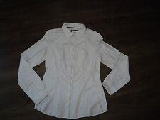ESPRIT - CHEMISIER CHEMISE coton rayé blanc et marron FEMME Taille 38