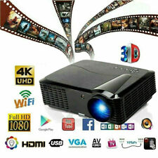 Video Movie Projector 1080P Full HD LED Home Theater 3D Dual HDMI Entertainment