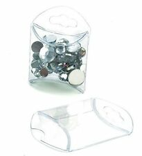 25 Clear Plastic Tiny Pillow Boxes; 1 3/4 x 3/4 x 1 3/4 Inches Retail and Gifts