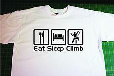 Eat, Sleep, Climb T-Shirt In White. Size Large. Climbing, Mountaineering
