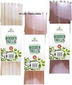 DIY 1x WOOD Trellis 5FT X 2FT Expanding Wooden Garden Trellises 1.5m x 60cm