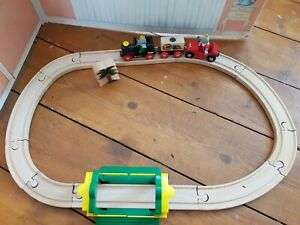 Rare Discontinued  Brio Babar Train Set with Celeste