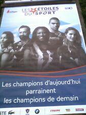 Affiche SPORTS  120X170   LES ETOILES DU SPORT  5 ATHLÈTES FRANÇAIS