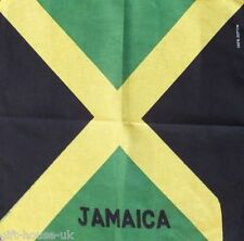 JAMAICA FLAG BANDANA BANDANNA HEAD/WRIST SCARF NECKERCHIEF HEAD WRIST UK SELLER