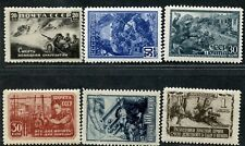 Russia✔️Sc. 867-72. Zv. 740/55. WW II scenes. MNHOG. CV120+