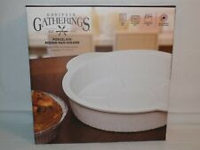 Godinger Porcelain Round Pan Holder Baking Dish Oven to Table
