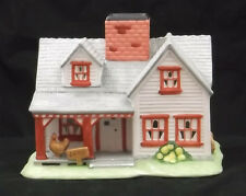 Partylite Villages The Farmhouse Ceramic Porcelain Tealight Candle Holder Po532