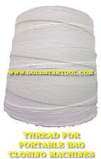 Thread For Portable Bag Closing Machines 3 Spools 1000 Yard Each T190 White Usa