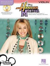 Play-Along Hannah Montana Learn to Play POP Violin Fiddle Music Book & CD