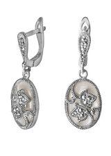 Elegante Ohrringe aus 925er Silber, Perlmutt