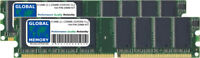 512MB (2x 256MB) DDR 266MHz PC2100 184-pin Memoria Dimm Ram Kit para Ordenadores